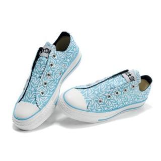 All Star Converse Bleu Blanc Sans Dentelle