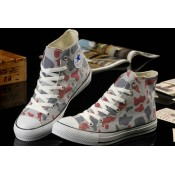All Star Converse Camouflage Gris Rouge