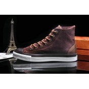 Chaussure Converse Chuck Taylor All Star Haute Suede Homme Marron Chocolat