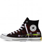 Chaussures Converse Le Simpsons Chuck Taylor All Star Noir
