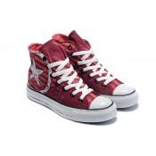 Chaussures Converse Lettre De Cachet Rouge Logo Blanc
