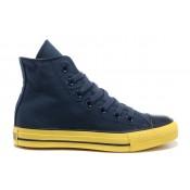 Chaussures Converse Marine Boeuf Rousseurs Seule Jaune