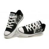 Chaussures Converse Noir Blanc