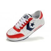 Chaussures Converse Pro Cuir Blanc Millésime étoile Bleue Rouge