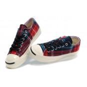 Chaussures Converse Rouge à Carreaux Bleu Foncé