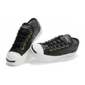 Chaussures Converse Slip En Cuir Noir