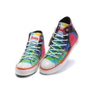 Chaussures Converse X Confitures Bloc De Roche Rouge Noir