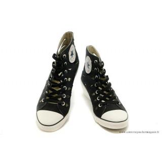 Chaussures d'été Noir Converse Chuck Taylor All Star Femme Wedges
