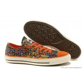 Converse Chuck Taylor All Star Basse Toile Chaussures Floral Orange