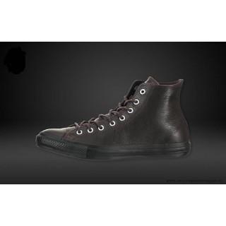Converse Chuck Taylor All Star Haute Cuir Chaussures Mole Noir