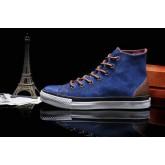 Converse Chuck Taylor All Star Haute Suede Homme Chaussures Bleu Chocolat