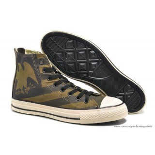 Converse Chuck Taylor All Star Zip Haute Imprimer Eagle Stripes Grisec