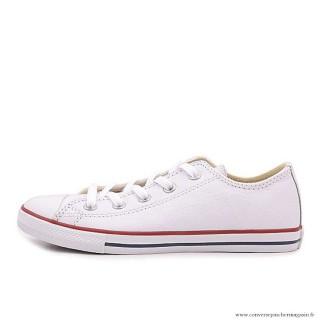 Converse All Star Basse Cuir Antiskid Chaussures Blanche