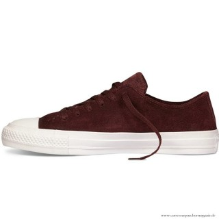 Converse All Star Basse Homme Suede Chaussures Bordeaux