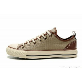 Converse All Star Basse Toile Charcoal Grise Marron
