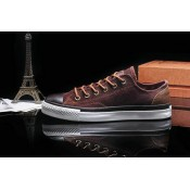 Converse All Star Basse Toile Homme Chaussures Marron Chocolat