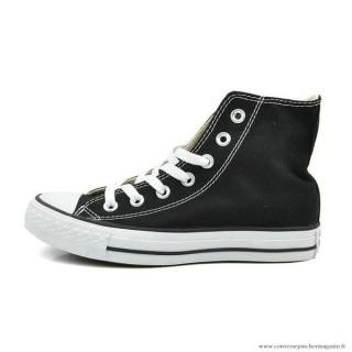 Converse All Star Haute Toile Chaussures Noir Blanche