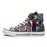 Converse All Star Soldes Motif Géométrique Imprimé Multicolore