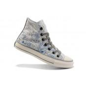 Converse All Star Soldes New York City Maps Bleu Blanc