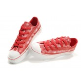 Converse All Star Pas Cher Rouge Graffitis
