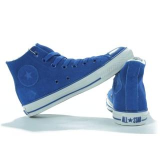 Converse All Star Pas Cher Shearling Cuir Daim Bleu