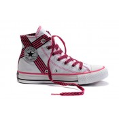 Converse All Star Pas Cher Usa Flag Blanc Et Rose