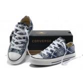 Converse All Star Soldes Plaid Bleu Blanc