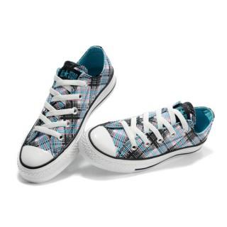 Converse All Star Soldes Plaid Bleu