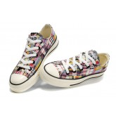 Converse All Star Soldes Plaid Graffiti