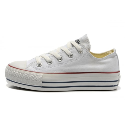 converses blanches plateforme