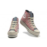 Converse All Star Soldes Plateforme Drapeau Rouge Usa