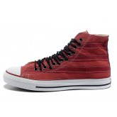Converse All Star Soldes Rayures Rouges Tirette
