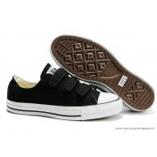 Converse All Star Tri Buckles Basse Toile Noir