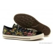 Converse Chuck Taylor All Star Basse Toile Chaussures Floral Noir