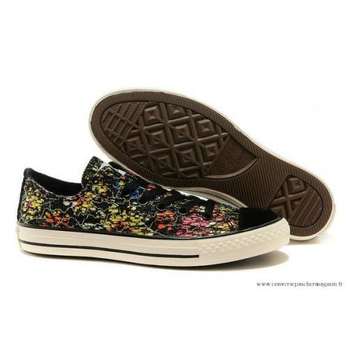 e9f2defc592 Converse Chuck Taylor All Star Basse Toile Chaussures Floral Noir ...