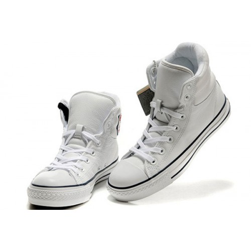 converse blanche cuir homme