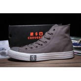 2016 Foudre Converse Chuck Taylor All Star Haute Toile Chaussures Grise Blanche