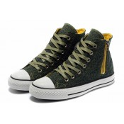 Converse Chuck Taylor All Star Léopard Glissière D'olive