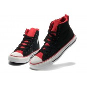 Converse Chuck Taylor All Star Plateforme Langue Rouge Noir