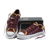 Converse Chuck Taylor All Star Plateforme Vin Rouge Jaune