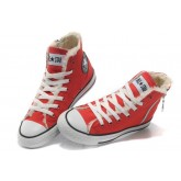 Converse France Chuck Taylor All Star Sieste Douce Shearling Glissière Rouge