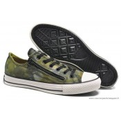 Converse Chuck Taylor All Star Zip Basse Toile Chaussures Pour Homme Yelbasse Vert