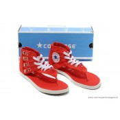 Converse Chuck Taylor All Star Zip Femme Sandale Stud Toile Rouge