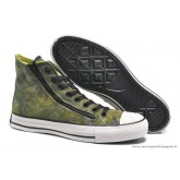 Converse Chuck Taylor All Star Zip Haute Toile Chaussures Pour Homme Yelbasse Vert