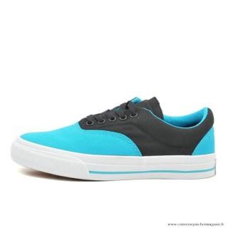 Converse Cons Basse Toile Chaussures Bleu Noir