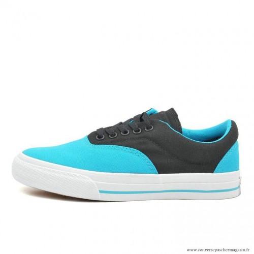 Converse Cons Basse Toile Chaussures Bleu Noir Taille Converse