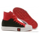 Converse Double Upper Chuck Taylor All Star Haute Noir Rouge