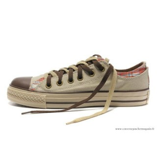 Converse Double Upper Tongue All Star Basse Beige Clathrate