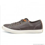 Converse Jack Purcell Basse Cuir Chaussures Chocolat Blanche