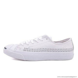 Converse Jack Purcell Basse Homme Cuir Blanche Converse Blanc